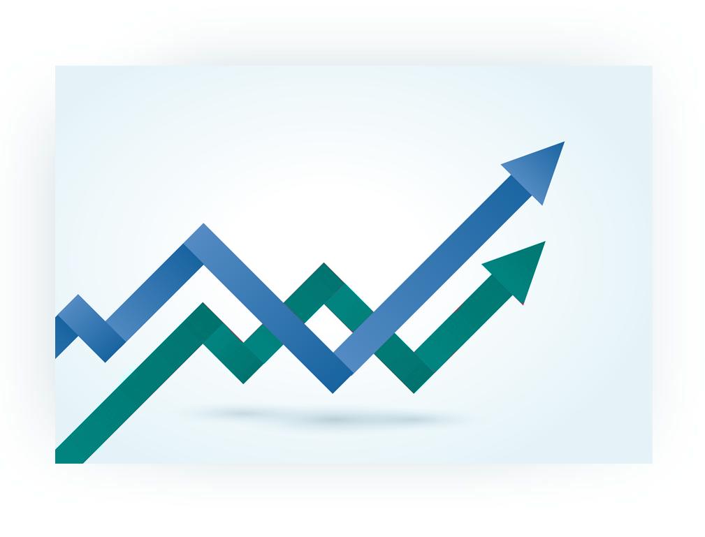 accountancy finacial graph trend
